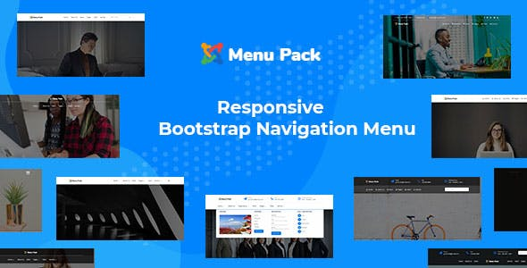 Menu-pack Responsive Bootstrap Navigation Menu