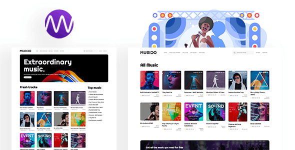 MUSICO - Premium Music Download System with Website