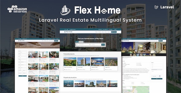 Flex Home - Laravel Real Estate Multilingual System