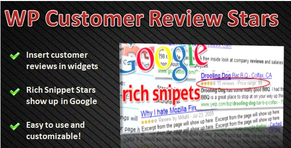 WP Customer Review Stars - CodeCanyon Item for Sale