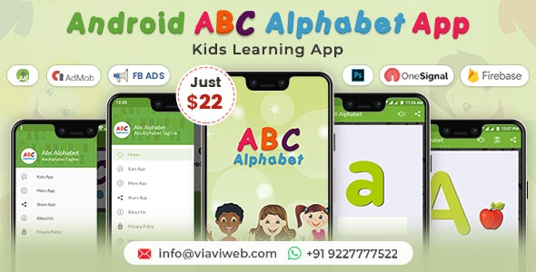 Android ABC Alphabet App - Kids Learning App - CodeCanyon Item for Sale