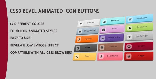 CSS3 ANIMATED ICON ROUNDED BUTTONS - CodeCanyon Item for Sale