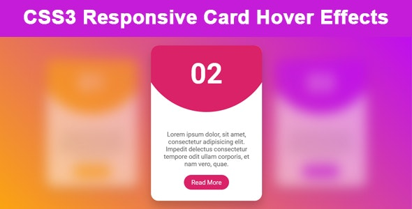 CSS3 Responsive Card Hover Effects - CodeCanyon Item for Sale