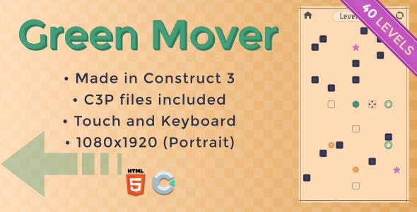 Green Mover - HTML5 Casual game