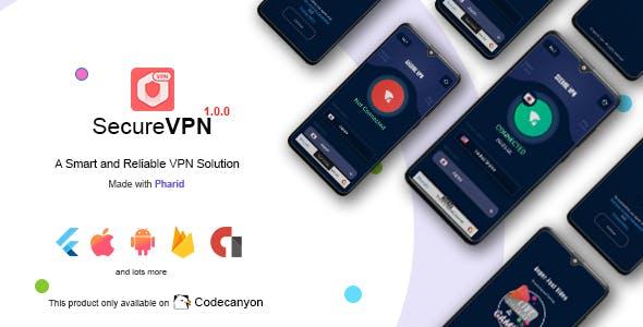 Secure VPN - Flutter VPN for Android & IOS