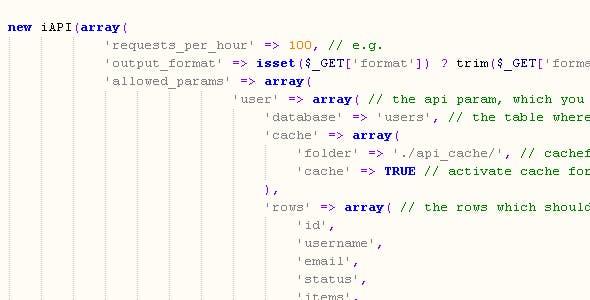 Simple API class