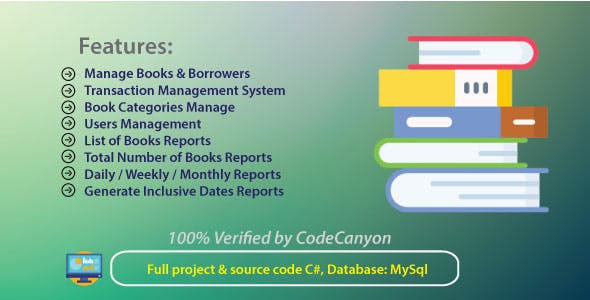 Library Management system with full project & source code C#