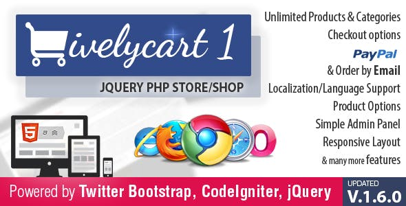 LivelyCart 1 - a JQuery PHP Store / Shop