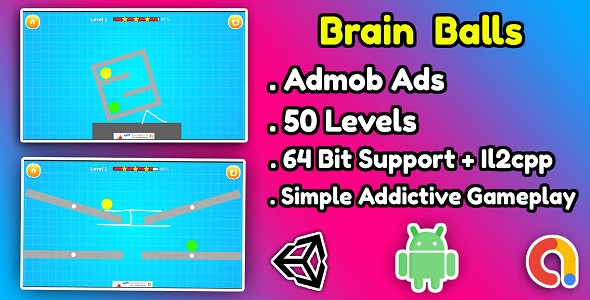 Brain Balls Game Unity Source Code - CodeCanyon Item for Sale