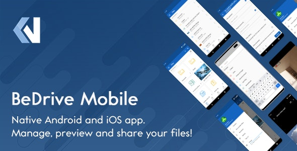 BeDrive Mobile - Native Flutter Android and iOS app for File Storage PHP Script - CodeCanyon Item for Sale