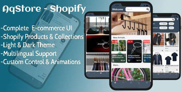AQStore Shopify - The Best Xamarin Forms E-commerce app