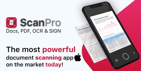 ScanPro - A Premium iOS Mobile Scanner - CodeCanyon Item for Sale