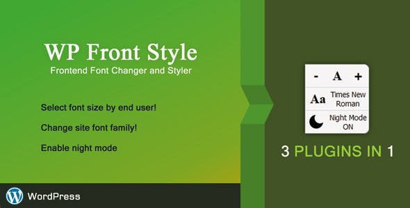 Front Style - Frontend Font Changer & Styler