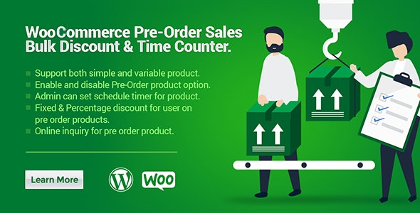 WooCommerce Pre-Order Sales, Bulk Discount & Time Counter - CodeCanyon Item for Sale