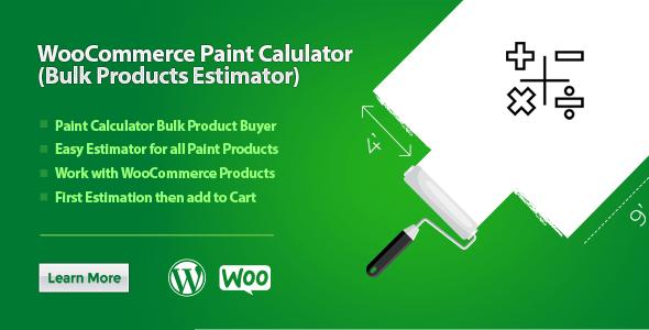 WooCommerce Paint Calculator (Bulk Products Estimator) - CodeCanyon Item for Sale