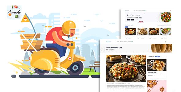 Avocada - Food Delivery Restaurant script Template