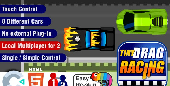 Local Multiplayer Drag Race - Construct 3