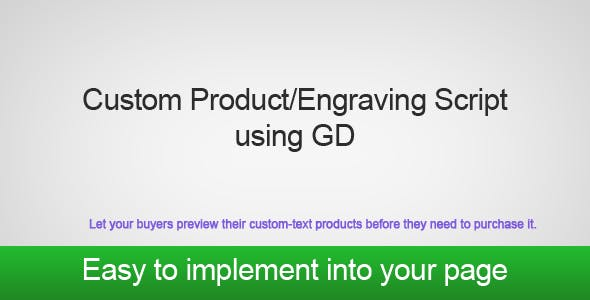PHP GD Custom Product/Engraving Script
