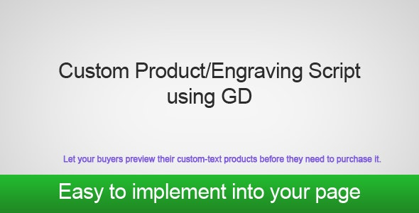 PHP GD Custom Product/Engraving Script - CodeCanyon Item for Sale
