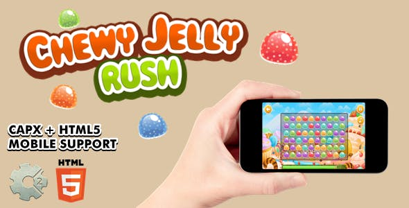 Chewy Jelly Rush - Construct 2 Game