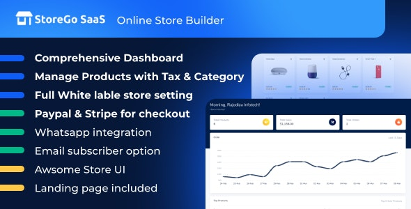 StoreGo SaaS - Online Store Builder - CodeCanyon Item for Sale