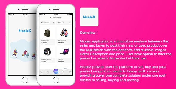 MsaleX Subscription based Buy Sell Goods Post Ads Application Template for iOS