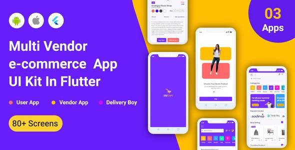 BizCart - Multi vendor e-commerce Flutter Full App UI Kit