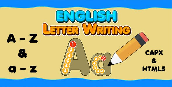 English Letter Writing (CAPX   HTML5   Cordova) Kids Educational Game
