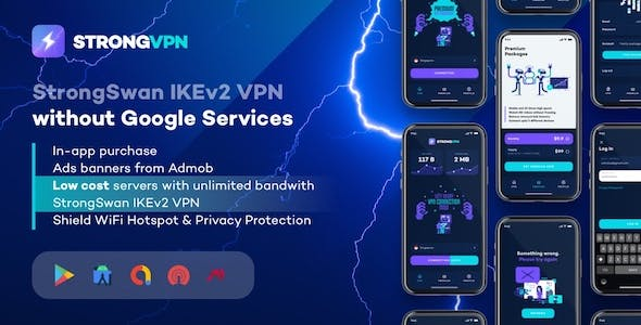 StrongVPN - StrongSwan IKEv2 VPN stable & free VPN proxy for Android