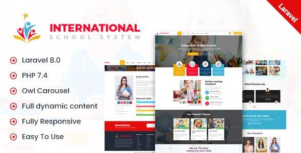 International - School PHP Laravel Script