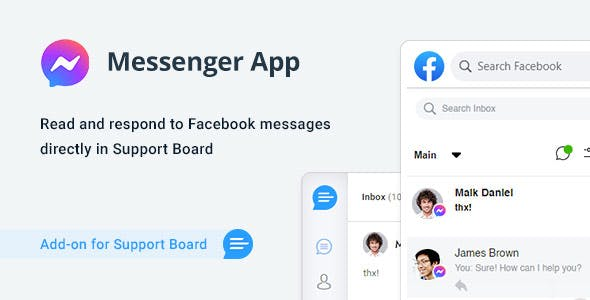 Facebook Messenger App for Support Board
