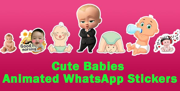 Cute Babies Animated WhatsApp Stickers - Support Android 10 (Working Code)
