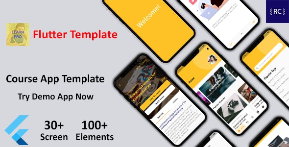 Flutter LMS App Template - Learning App Template - Course App Template Flutter - Udemy Clone Flutter - CodeCanyon Item for Sale