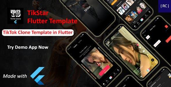 TikTok Clone App Template in Flutter - Short Video Creating App Template in Flutter