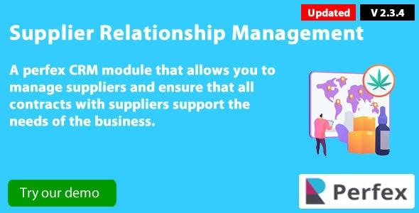 Supplier Management module for Perfex CRM v2.3.4