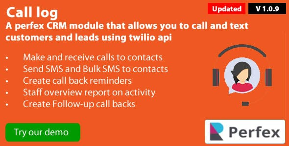Call Log 1.2.0 module for Perfex CRM