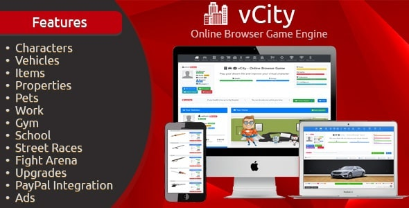vCity v2.2.1 – Online Browser Game Platform