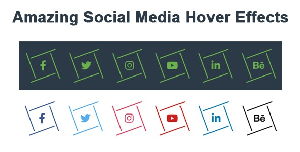 Amazing Social Media Hover Effects - CodeCanyon Item for Sale