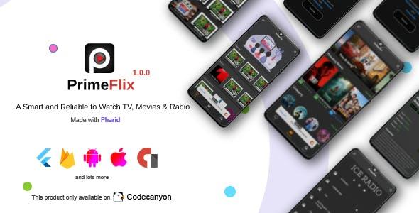 PrimeFlix - Movies, TV Series, Live TV Channels & Live Radio