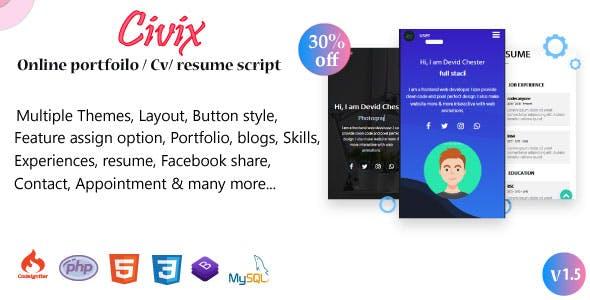 Civix -  Portfolio / CV / Resume / vCard