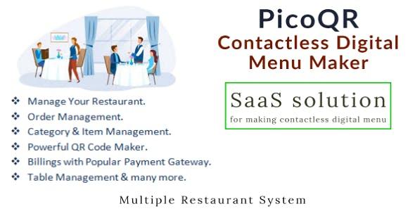 PicoQR - (SaaS) Restaurant Food Ordering with Digital QR Menu Maker