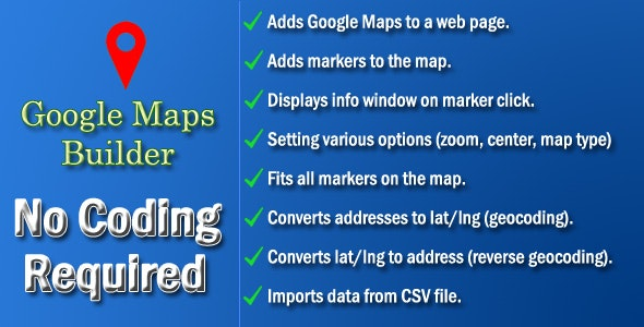 Google Maps Builder - CodeCanyon Item for Sale