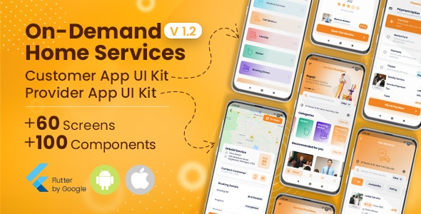 On-Demand Home Services, Business Listing, Booking Flutter UI Template - CodeCanyon Item for Sale