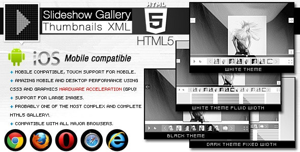 HTML5 Slideshow Gallery Thumbnails XML - CodeCanyon Item for Sale