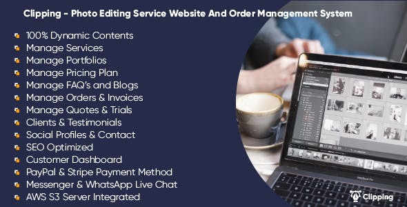 Clipping - Photo Editing Service Website And Order Management System