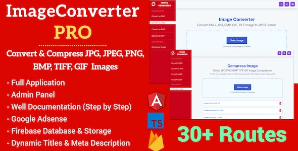 Image Converter Pro Full Production Ready Application With Admin Panel  (Angular 11 & Firebase) - CodeCanyon Item for Sale