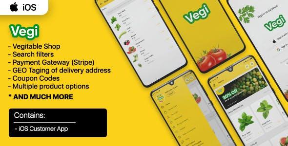 Vegi (iOS) - The Ultimate Grocery - Food - Milk Ordering app  & Admin : iOS / Laravel