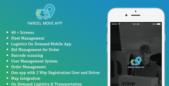 Native swift Parcel Move Full Application for iOS
