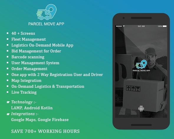 Parcel Move Full Application for Android - CodeCanyon Item for Sale