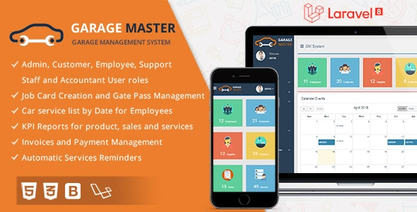 Garage Master v1.2.1 – Garage Management System – nulled
